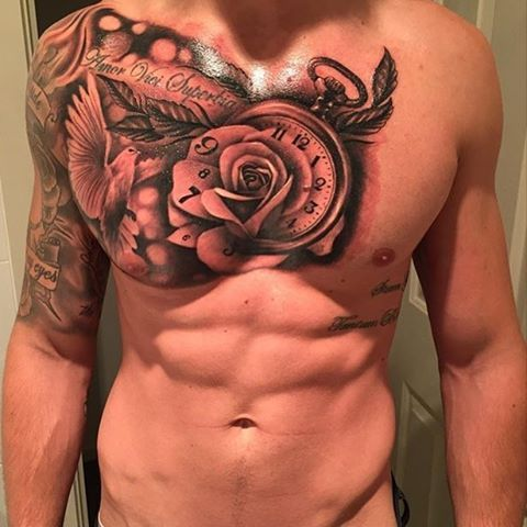 1000 ideas about rose chest tattoo on pinterest chest tattoos for men chest tattoo and. Black Bedroom Furniture Sets. Home Design Ideas