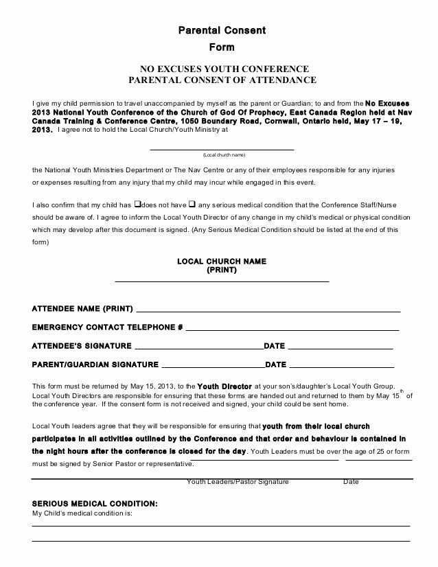 Parental Consent Forms Template Awesome Parental Consent Form Conference 2013 Consent Forms Parental Consent Child Travel Consent Form
