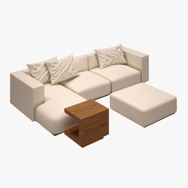 Sofa Set 002 3D Model .max .c4d .obj .3ds .fbx .lwo .stl @3DExport.com by Semsa