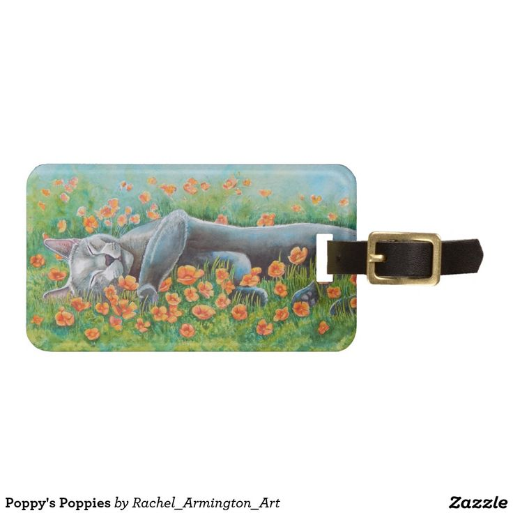 Poppy's Poppies Luggage Tag