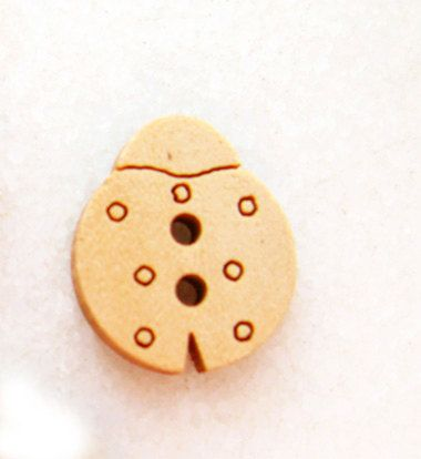 Cute Ladybug  Wood Buttons Children Buttons Sewing by nezoshop, $2.45