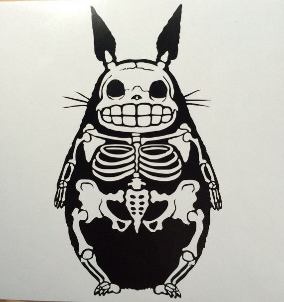 Skeleton My Neighbor Totoro inspired  vinyl sticker by TOSHWERKS