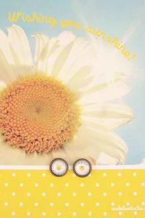 zonnige wenskaart met oorbelletjes! by shop.bookadee.be
