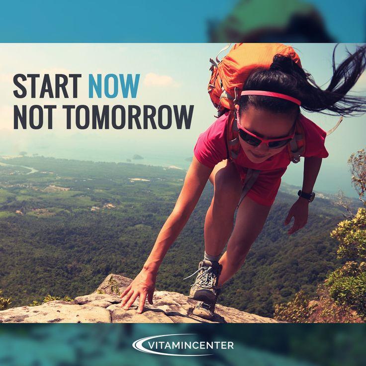 Start NOW, not tomorrow! #mondaymotivation => www.vitamincenter.it