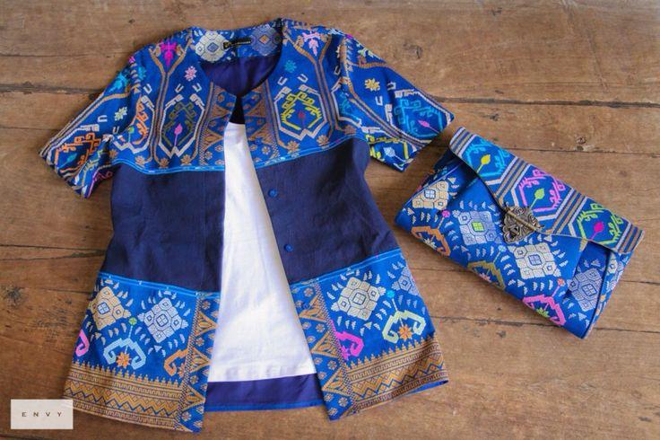 Envy Clutch & Matching Jacket In Songket Bali