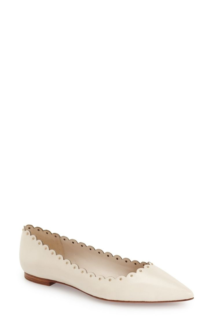 Free shipping and returns on COACH 'Jill' Flat (Women) at Fashiondoxy.com. Tiny golden studs accentuate the scalloped topline of a pointy-toe flat crafted from rich leather.