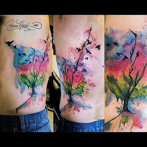 tatuaje acuarela arbol buscar con google tattoo pinterest b squeda. Black Bedroom Furniture Sets. Home Design Ideas