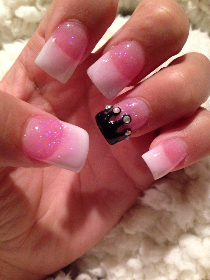 super cute crown nails