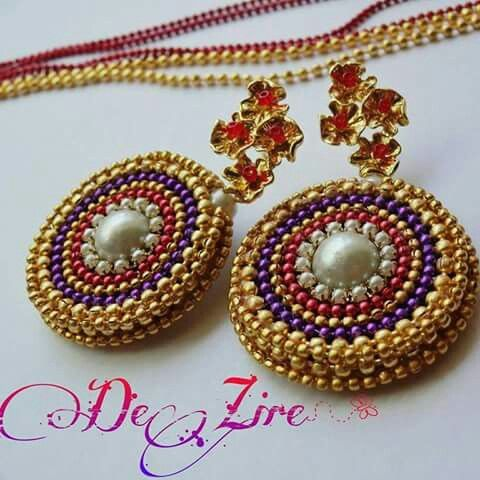 Quilling grand earrings quilling jewellery for Big quilling designs