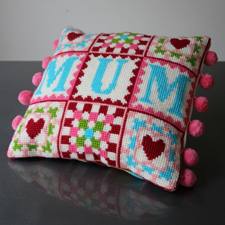 Pearl and Earl - Mum Granny Square Tapestry Cross Stitch Kit, £60.00 (http://www.pearlandearl.co.uk/mum-granny-square-tapestry-cross-stitch-kit/)