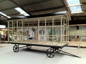metal self build | Blackdown Shepherd Huts - Traditional bespoke handcrafted shepherd huts made in Somerset UK.