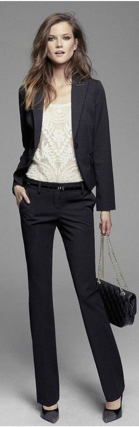 suiting + blouse x Express | Skirt the Ceiling | skirttheceiling.com