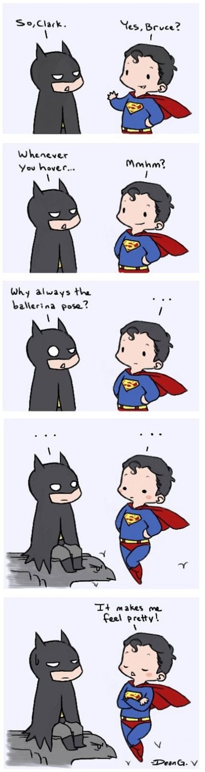 Batman vs. Superman...awww I love them both!!!
