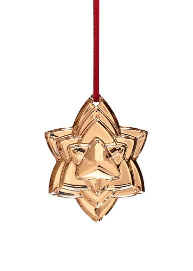 Baccarat Crystal Annual Ornament 2018, Gold 2018 Crystal Ornaments