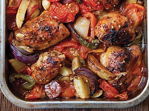 Slimming World's rustic garlic chicken tray bake recipe - goodtoknow