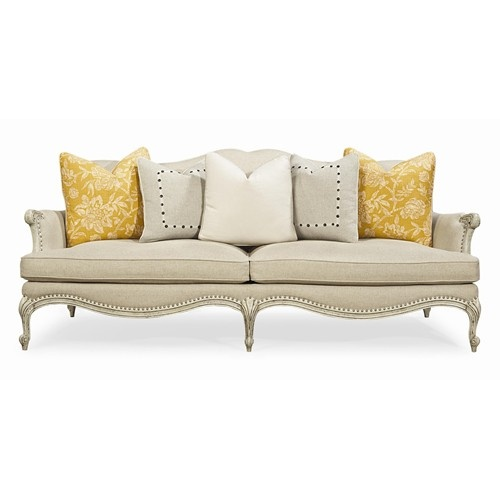 Caracole Upholstery Oui Stationary Sofa With Intricate Carved Frame By Schnadig Olinde S Furniture