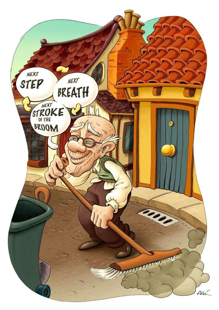 Beppo the Road Sweeper by Ali del Rey Ilustra #alidelreyilustra #beppotheroadsweeper #momo