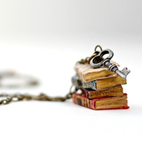 Make this mini book pendant with supplies from the craft store, watch the fun video tutorial