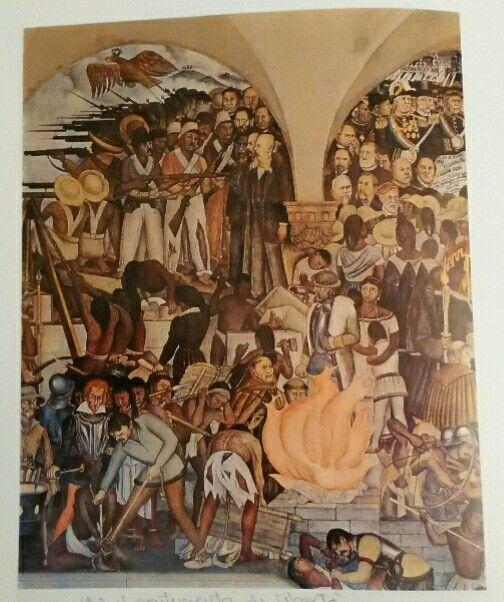 164. Diego Rivera, L'esecuzione dell'imperatore Massimiliano, dal ciclo della Storia del Messico, 1930-32 affresco Città del Messico, Palazzo Nazionale