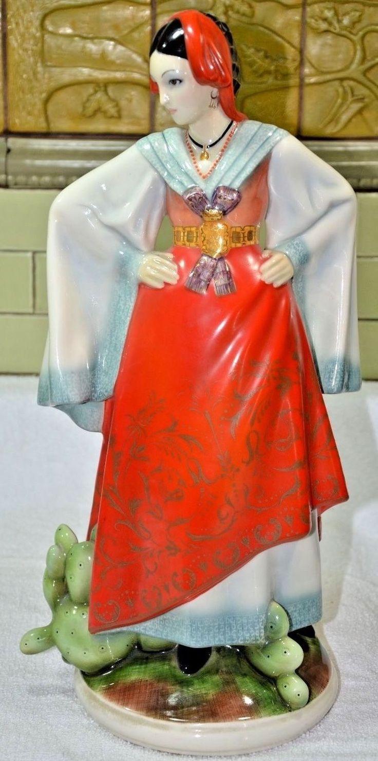 Редкая винтажная Lenci фигурка в сицилийской традиционной одежде