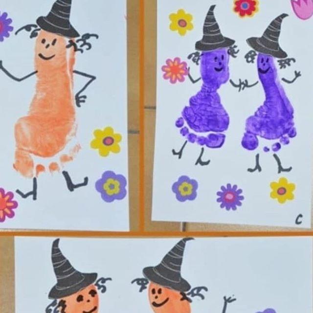 hallowen  geburtstagskarte fingerabdruck basteln mit