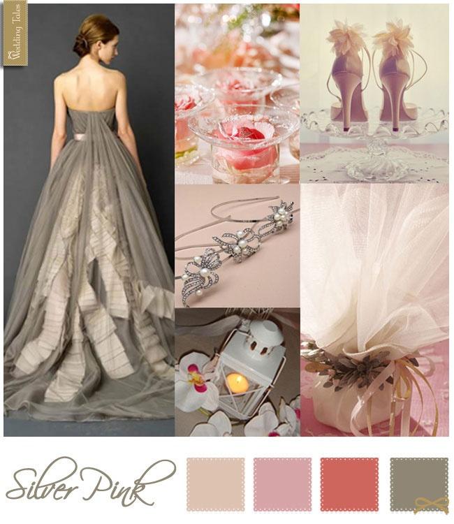 Wedding Moodboard   Silver Pink