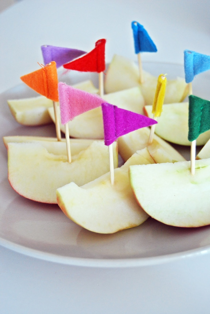 little felt flags to decorate food