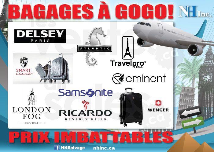 Liquidation de valises chez NH Salvage | lesventes.ca