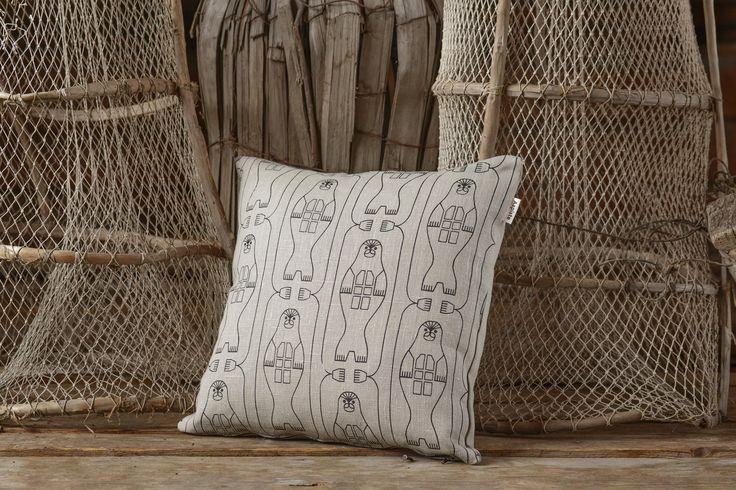 Norppa (Ringed Seal) cushion. Design by Riikka Kaartilanmäki 2016.