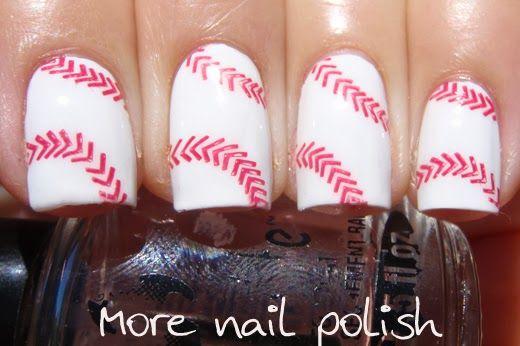 For the spring! More Nail Polish: Easy Peazy Baseball Nails