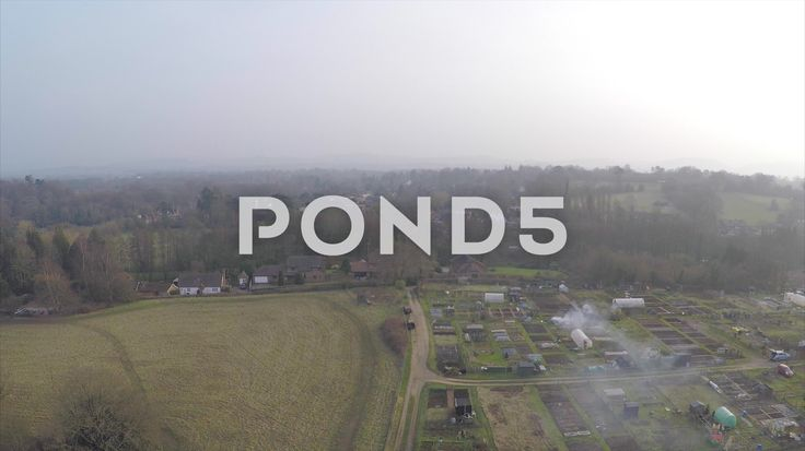 2.7K Aerial Shot Village Countryside Farmers Plot Field Woodland Hills Drone - Stock Footage | by RyanJonesFilms