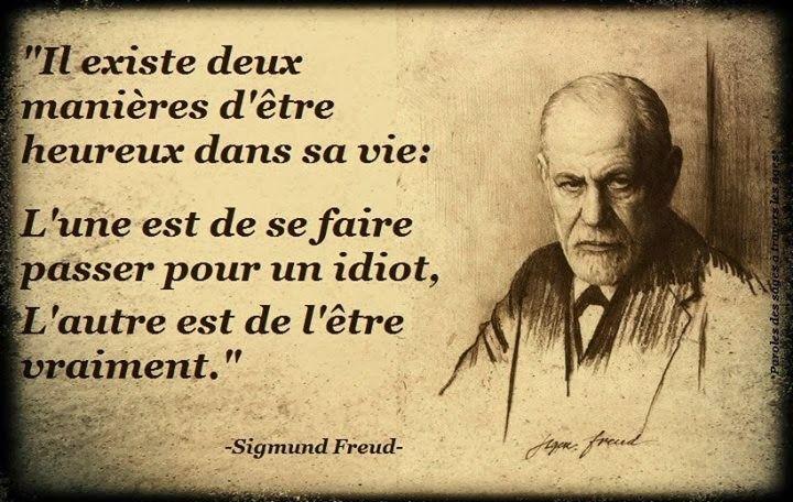 citation en image sur le bonheur de Sigmund freud
