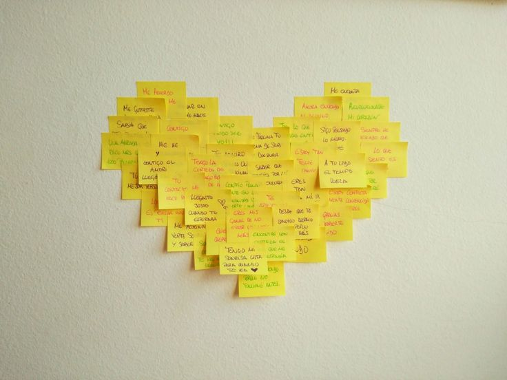 Corazón de post-it, #manualidad de #amor #BlogTwinShoes