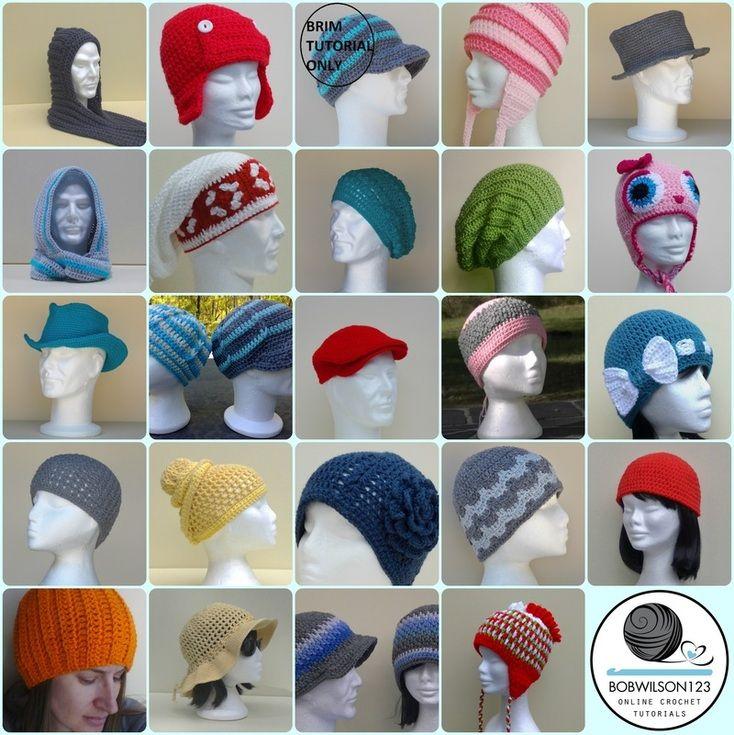 Crochet Hats Free written patterns and tutorials
