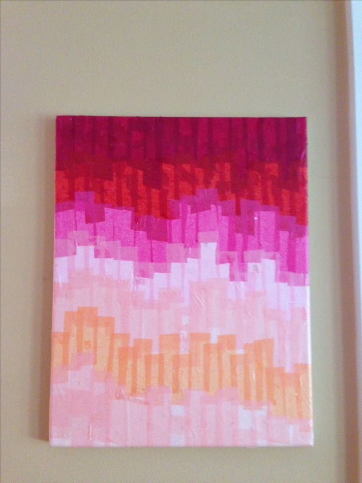 Tissue Paper And Modge Podge On Canvas Arts Crafts Diy