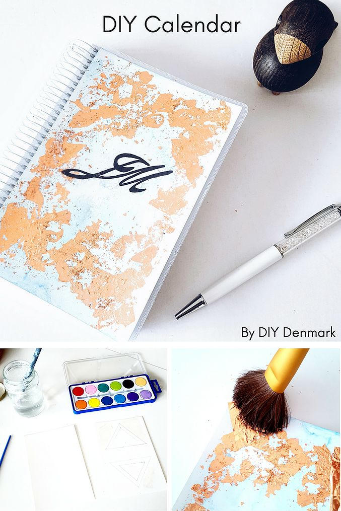 Learn how to create your own calendar or notebook cover with this easy do it yourself tutorial by DIY Denmark | Click to see the tutorial