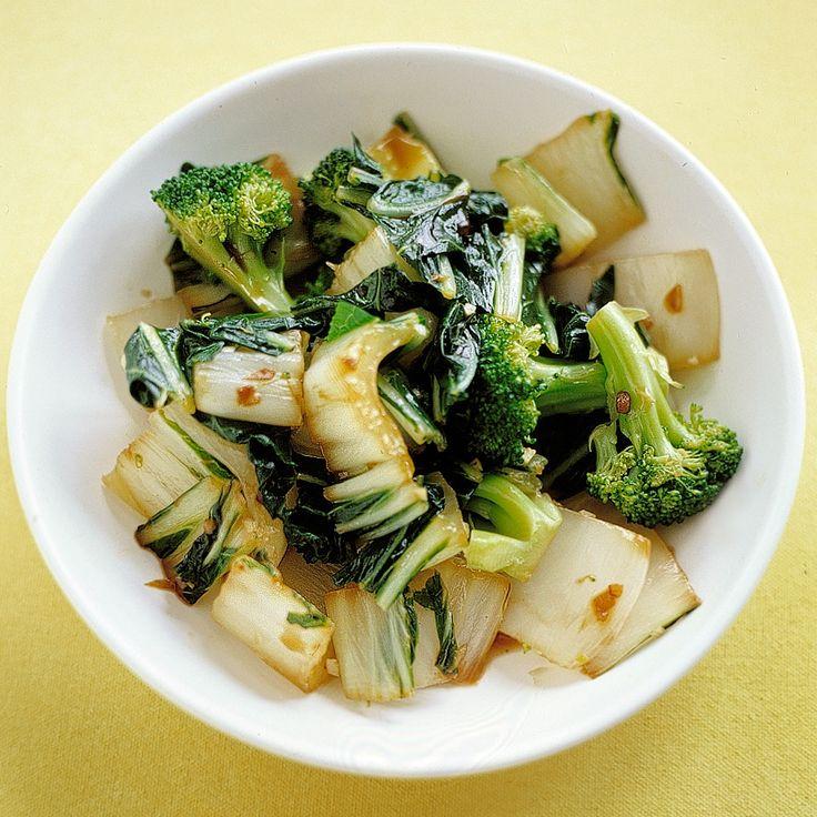 Sauteed Bok Choy and Broccoli