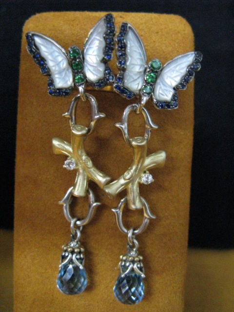 Carved Butterfly earrings by Barbara Bixby.  This would contribute to my happiness!  I'm not easy to please, but this would do it!