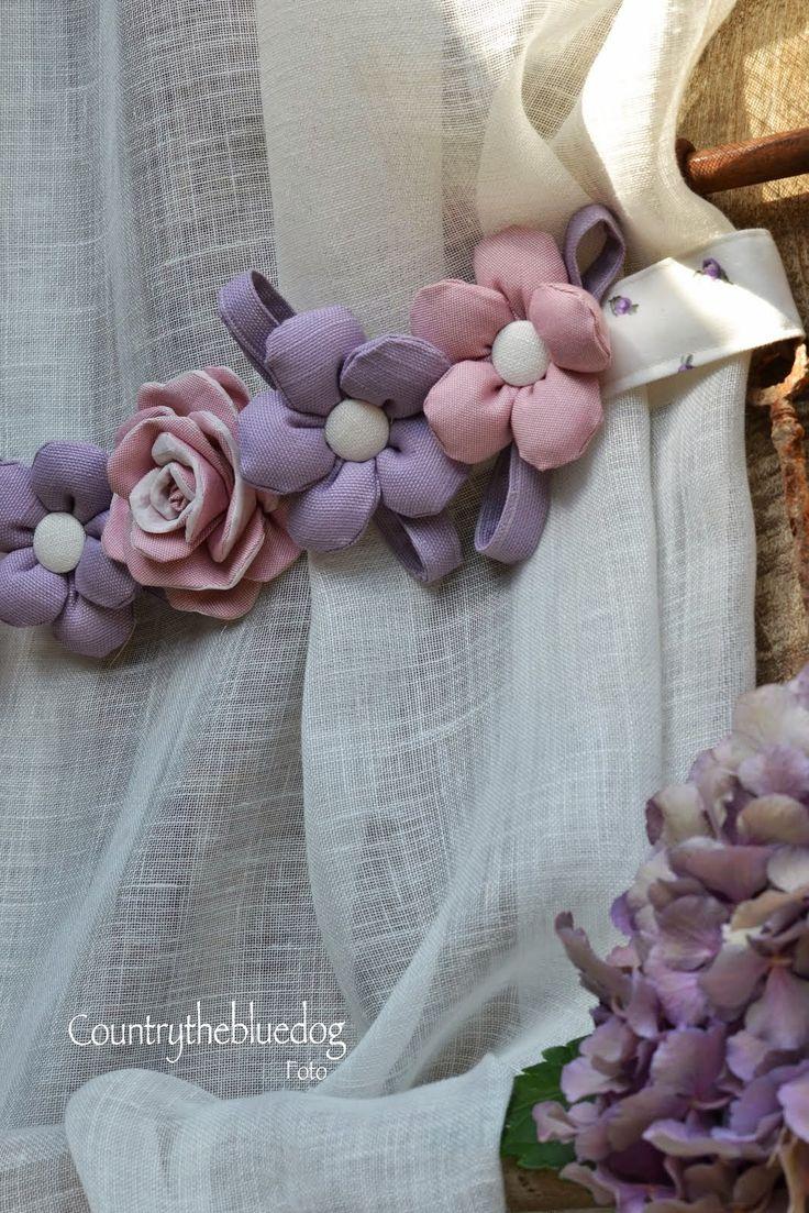 Provençal country: tende in preziosissimo lino con inserti in taffetà