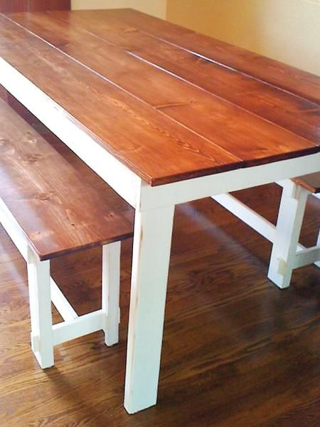 i love farmhouse tables. and this site shows you how to make your own! good thing the hubs is wood crafty!