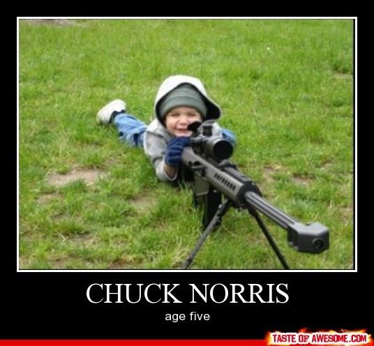 Chuck Norris age 5