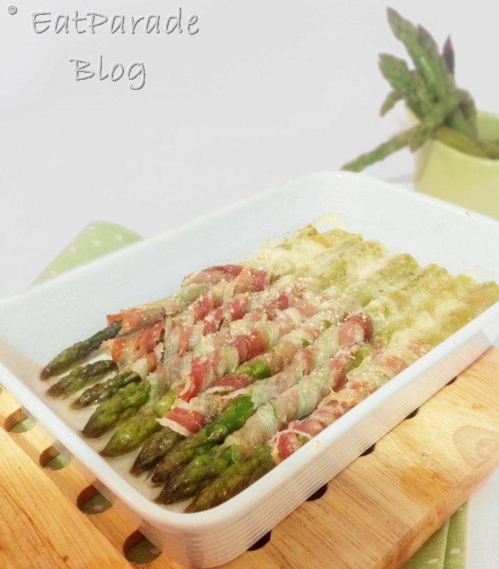 Asparagi con pancetta e pecorino