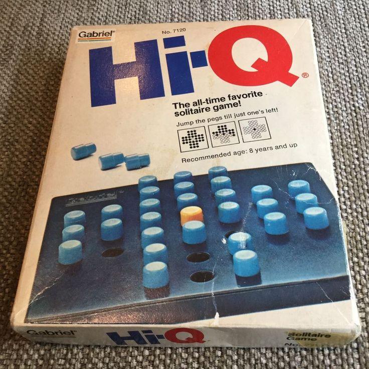 Vintage Hi-Q Solitaire Game Gabriel Industries No. 7120 1977 Ages 8+ in Toys, Hobbies, Vintage, Antique Toys, Games, Board Games | eBay!