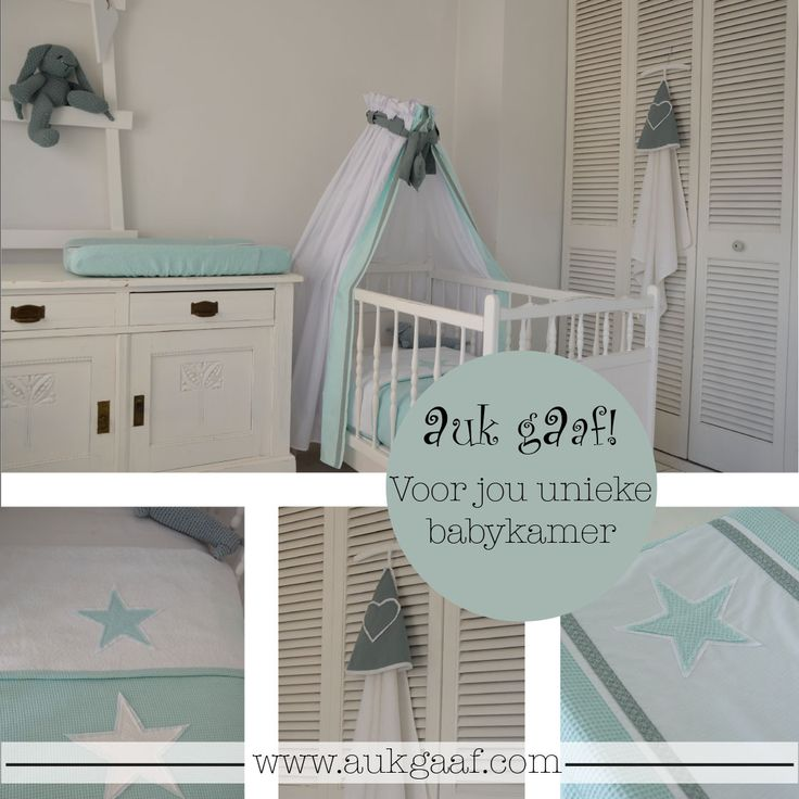 Mint groene babykamer aankleding! Ontwerp je eigen babykamer met babykamer aankleding bij AukgAaf! #babyroom #design #accessoires #baby