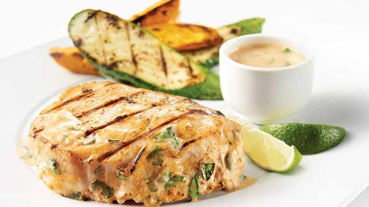 Darne de marlin bleu à l'indienne sur le barbecue