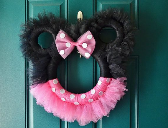Minnie Mouse Tulle Wreath By Lovenestboutique On Etsy 40