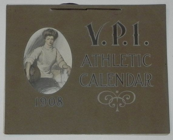 Beautiful 1908 Virginia Tech / Virginia by AntiqueSportsShop