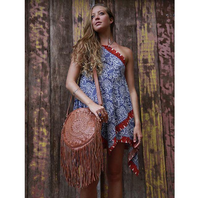 MANDALA handmade shoulder leather bag #mahila #leather #handmade #boho #bohemian #bohoinspiration #genuine #bag www.mahilacouro.com.br