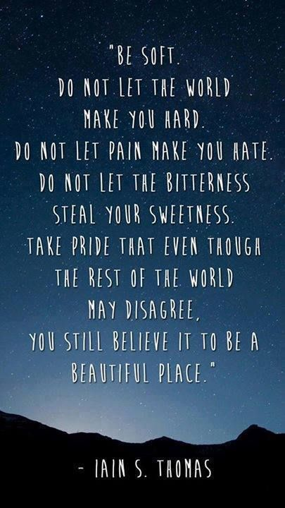 I've pinned this before but I can't stress enough how important it is to be kind and soft, even to people you think are not worth it, because they probably need your kindness the most. It's not being weak. It actually takes more strength to stay kind hearted and love everyone for their differences.