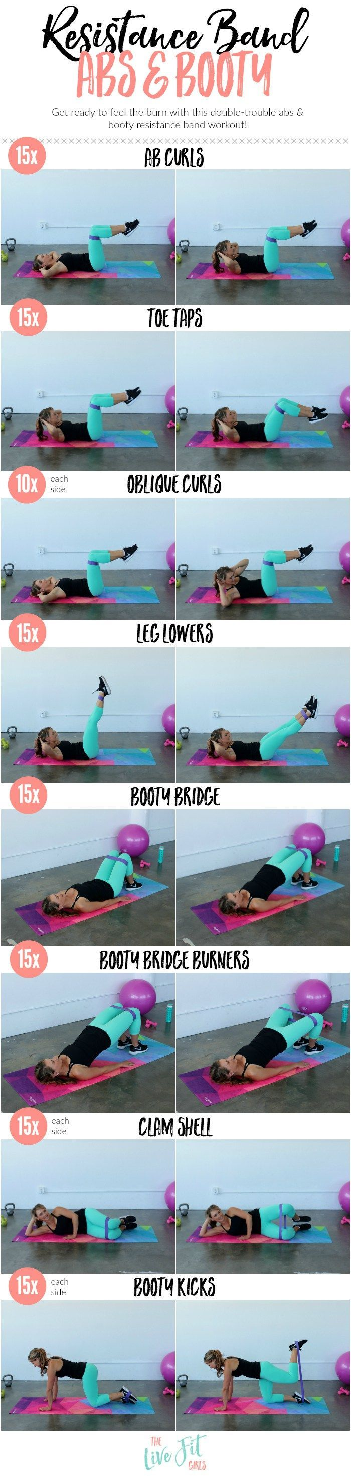 Resistance Band Abs & Booty Workout